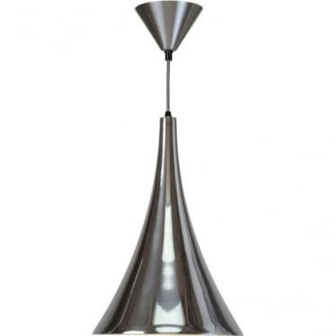 Trump pendant light - polished aluminium