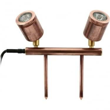 Twin bar light - copper - Low Voltage