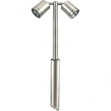 Twin Pole Light Retro - stainless steel - MAINS