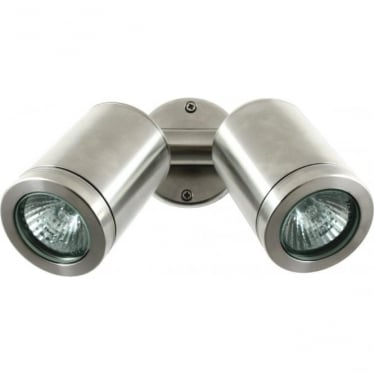 Twin Wall Spot GU10 - stainless steel- MAINS