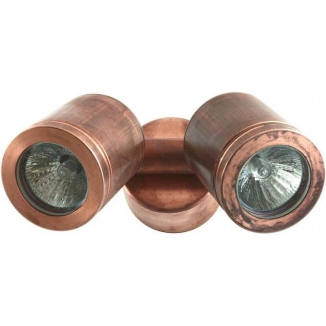 Hunza Outdoor Lighting Twin Wall Spot Retro - copper - MAINS - Hunza Outdoor Lighting from ...