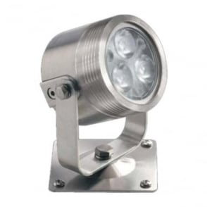 UL030RGBW Colour change LED light with bracket 12w - Stainless steel - Low voltage