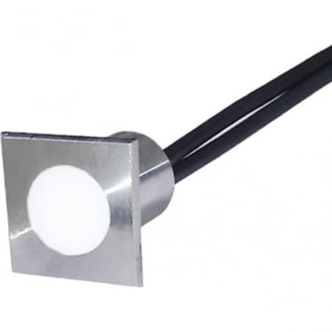 Single Square Deck Light - stainless steel