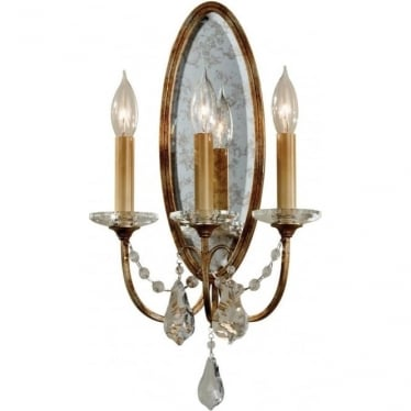 Valentina 3 Light Wall Light Oxidized Bronze