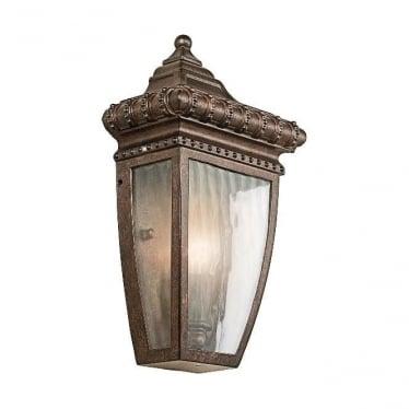 Venetian 7 small half wall lantern - Bronze