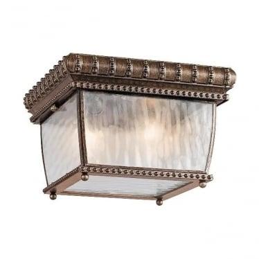 Venetian flush mount fitting - Bronze