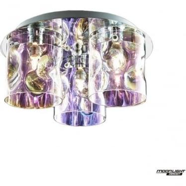 Venus 3 Light flush Fitting Translucent Multi Dimmable