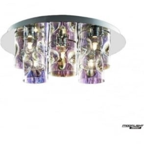Venus 5 Light flush Fitting Translucent Multi Dimmable
