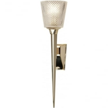 Verity Bathroom LED Wall Light IP44 Polished Gold