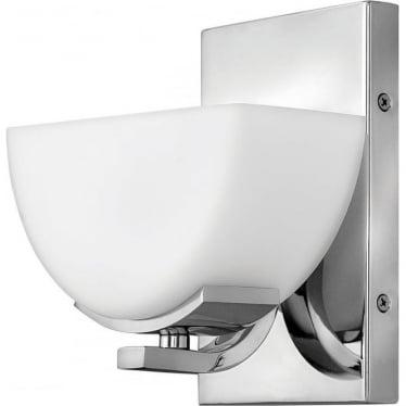 Verve Single Light Bathroom LED Wall Light IP44 Polished Chrome