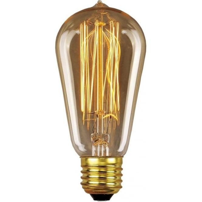 Elstead Lighting Vintage Industrial Lamp - Edison Filament Pear 60W E27