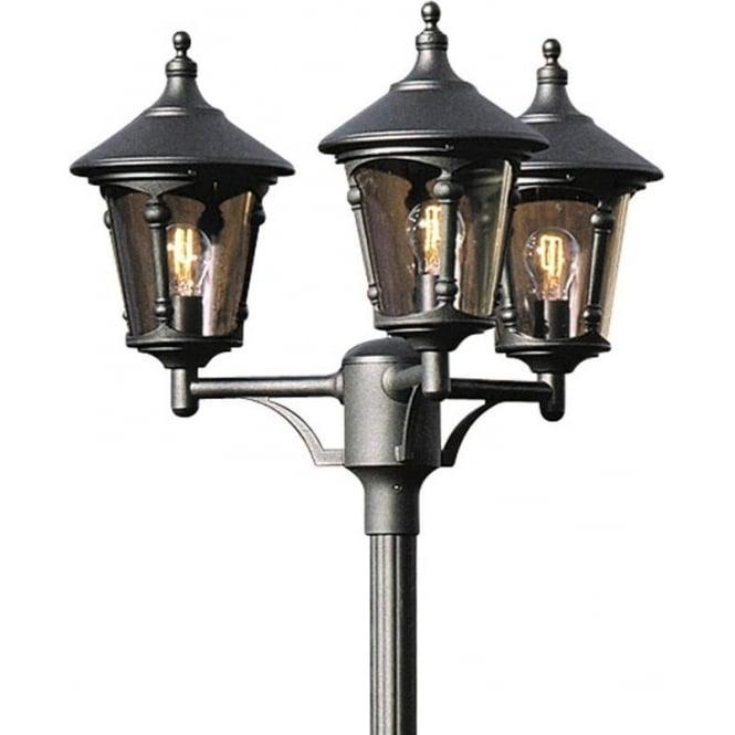 Konstsmide Garden Lighting Virgo triple head - black 573-750