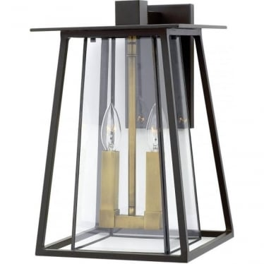 Walker Large Wall Lantern Buckeye Bronze