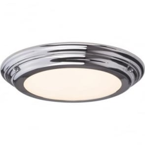 Welland Flush Mount Bathroom LED Ceiling Light IP54 Polished Chrome