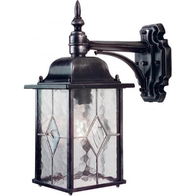 Elstead Lighting Wexford Down Wall Lantern - Black