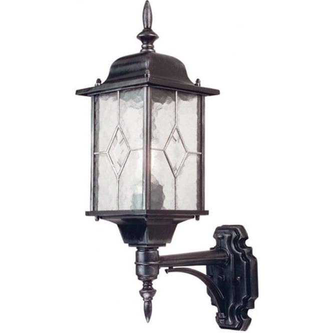 Elstead Lighting Wexford Up Wall Lantern - Black
