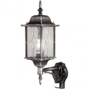 Wexford Up Wall Lantern with PIR - Black