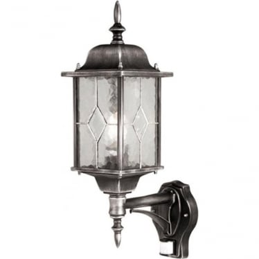 Wexford Up Wall Lantern with PIR - Black
