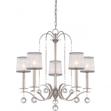 Whitney 5 Light Chandelier Imperial Silver