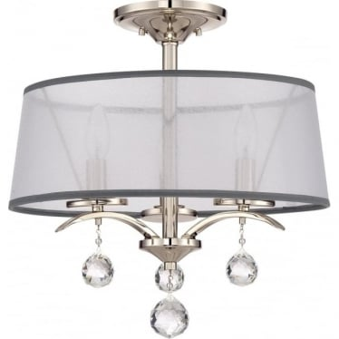 Whitney Semi Flush/Pendant Light Imperial Silver