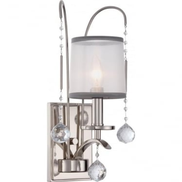 Whitney Single Wall Light Imperial Silver
