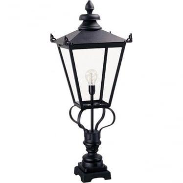 Wilmslow Pedestal Lantern - Black