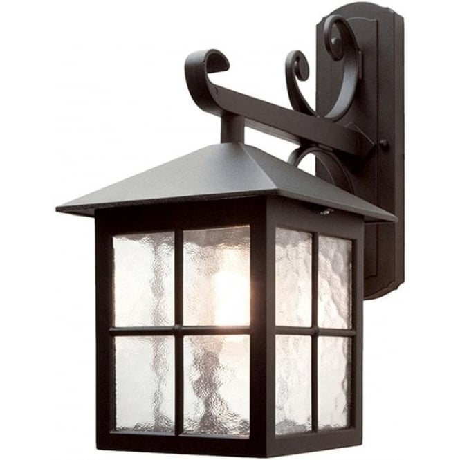 Elstead Lighting Winchester Down Wall Lantern - Black