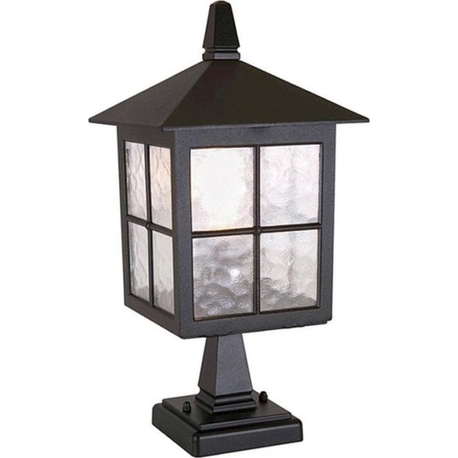 Elstead Lighting Winchester Pedestal Lantern - Black