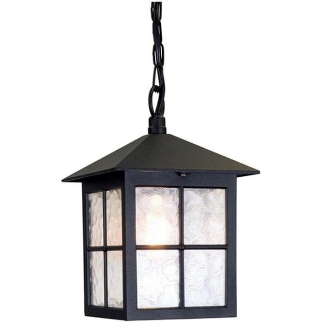 Elstead Lighting Winchester Porch Chain Lantern - Black