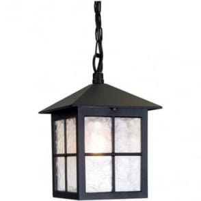 Winchester Porch Chain Lantern - Black