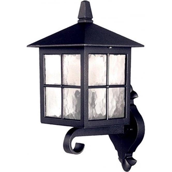 Elstead Lighting Winchester Wall Up Lantern - Black