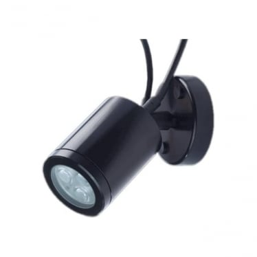 WL021CARGB Colour change LED adjustable wall light 4w - Aluminium - BLACK BODY - Low voltage