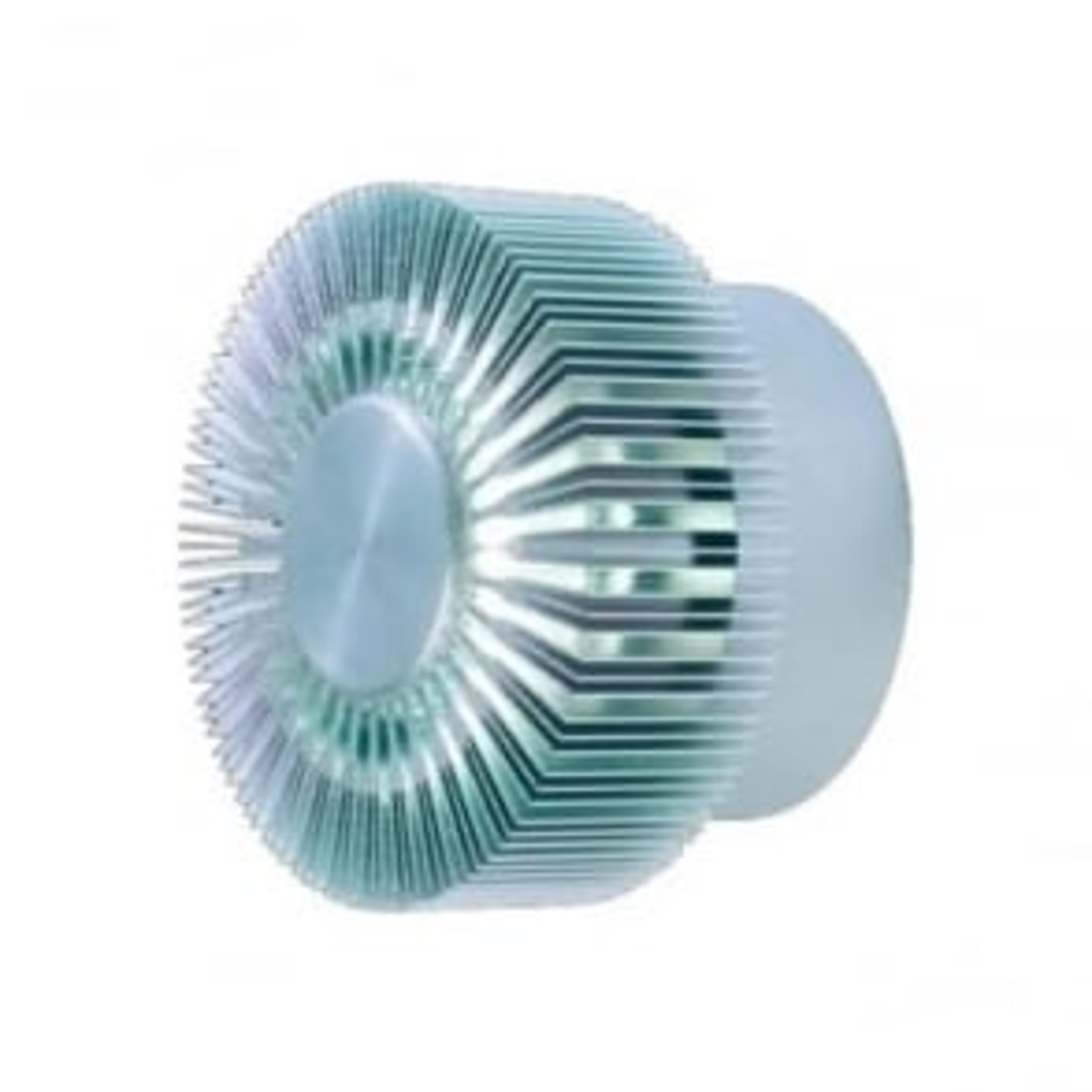 WL041 IP MAINS fan effect LED wall light - Anodised Aluminium