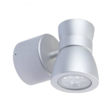 WL075RGB High output LED Colour change wall down light 12w - Aluminium - Low voltage