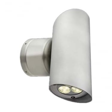 WL262 Large up/down LED MAINS Wall light - Aluminium