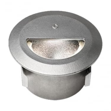 WL339 Asymmetric mains cast finish step light - Stainless steel