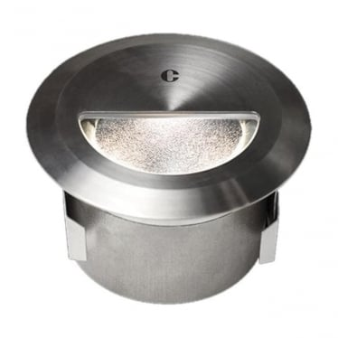 WL340 Asymmetric mains brush finish step light - Stainless steel