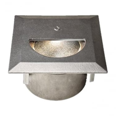 WL341 Asymmetric mains cast finish step light - Stainless steel