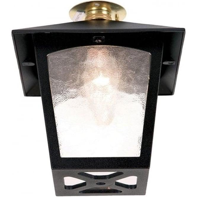 Elstead Lighting York Flush Porch Lantern - Black