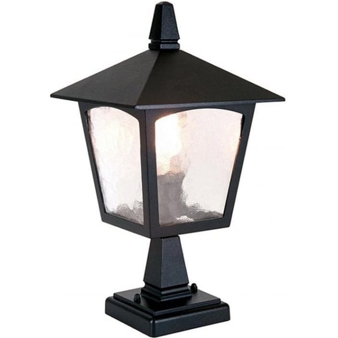 Elstead Lighting York Pedestal Lantern  - Black