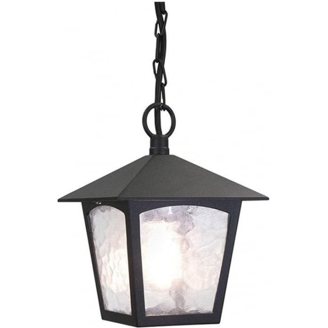 Elstead Lighting York Porch Chain Lantern - Black