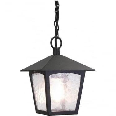 York Porch Chain Lantern - Black