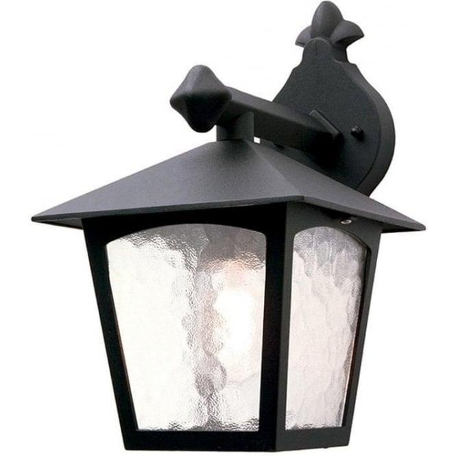 Elstead Lighting York Wall Down Lantern - Black