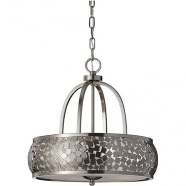 Zara 4 light Chandelier Brushed Steel