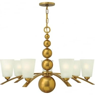 Zelda 7 Light Chandelier Vintage Brass