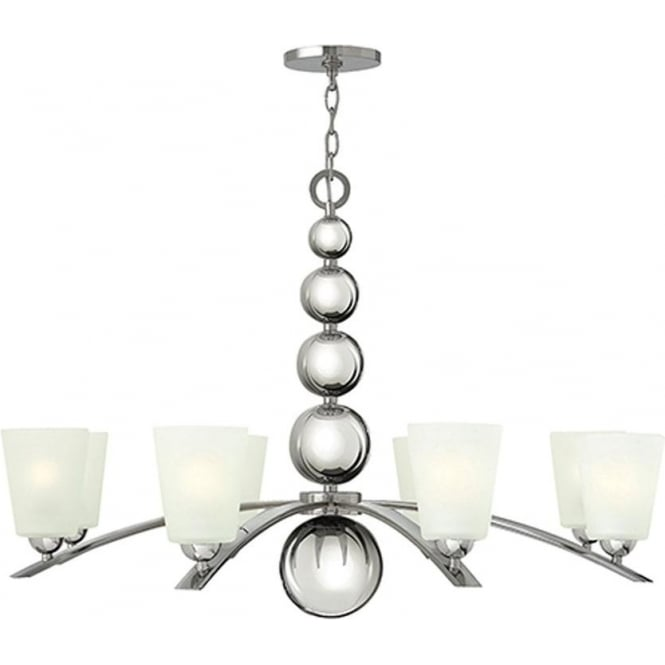 Hinkley Lighting Zelda 8 light Chandelier Polished Nickel