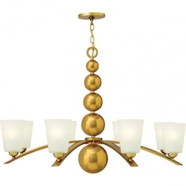 Zelda 8 Light Chandelier Vintage Brass