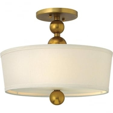 Zelda semi- flush fitting Vintage Brass