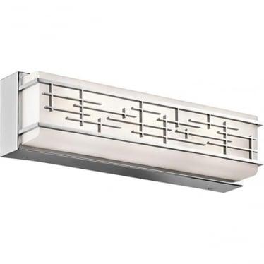 Zolon Medium Linear Bathroom LED LED fitting IP44 Polished Chrome