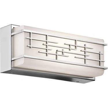Zolon Small Linear Bathroom LED LED fitting IP44 Polished Chrome